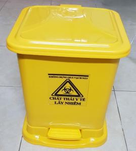 Thùng rác y tế chân đạp màu vàng 15 lít, 30 lít