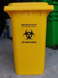 Thùng rác y tế màu vàng 120 lít